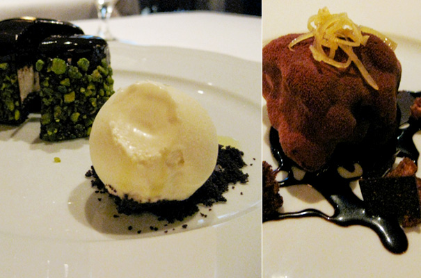 Dinner at Del Posto — Two delectable desserts