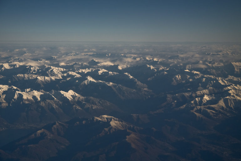 Fear of Flying - In Flight Over the Dolomites