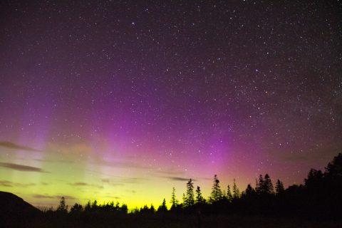 Aurora Borealis at Sand Beach, Acadia National Park